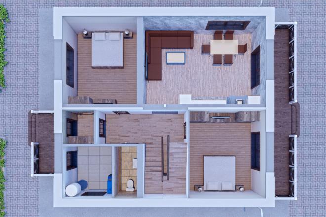 Фотореалистичная 3D визуализация экстерьера Вашего дома 116 - kwork.ru