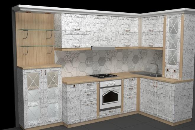 Фотореалистичная визуализация кухни 3 - kwork.ru