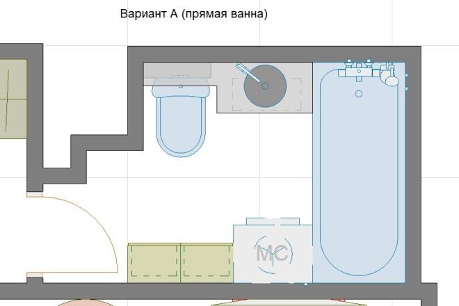 Планировочные решения. Планировка с мебелью и перепланировка 66 - kwork.ru
