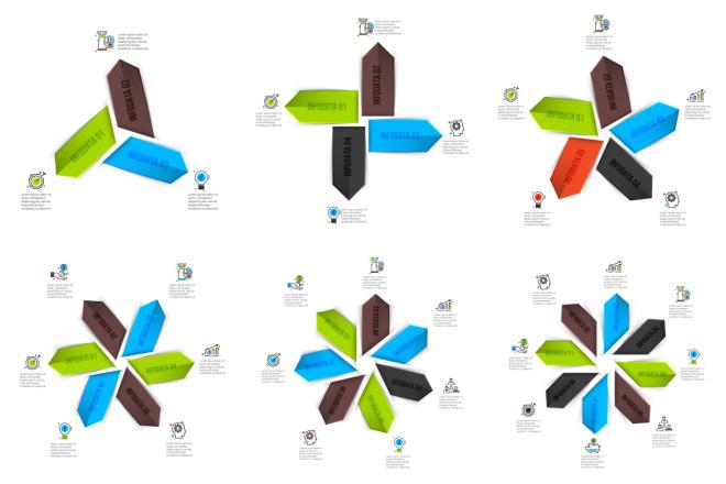 Набор инфографики. 13 тематик, 800 шаблонов, 2 пакета иконок 2 - kwork.ru
