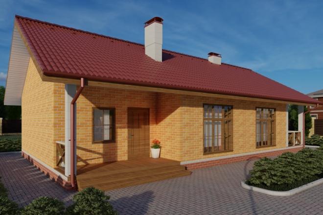 Фотореалистичная 3D визуализация экстерьера Вашего дома 99 - kwork.ru