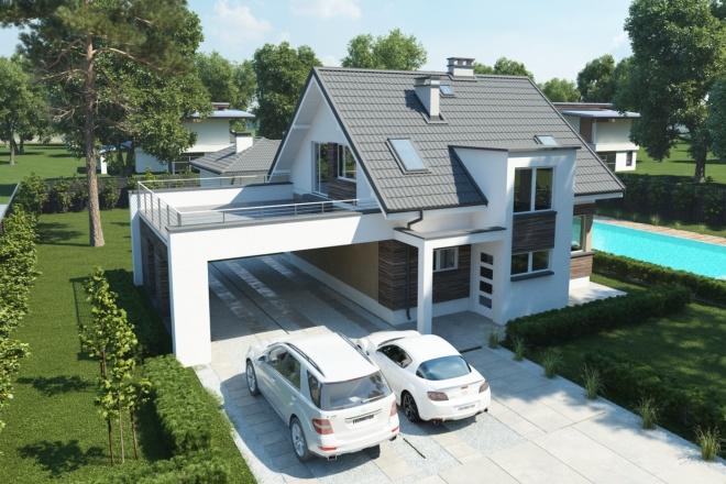 Качественная 3D визуализация фасадов домов 5 - kwork.ru