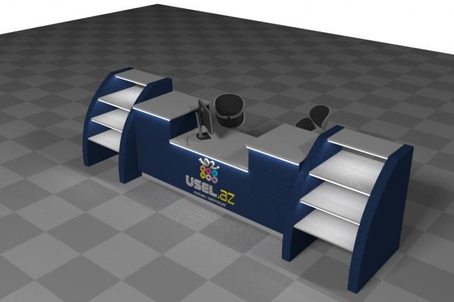 3D модель и визуализацию торгового места 46 - kwork.ru