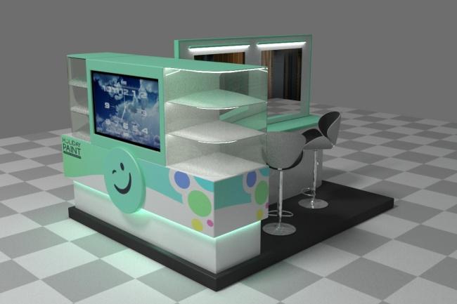 3D модель и визуализацию торгового места 44 - kwork.ru
