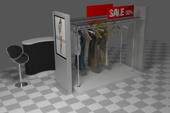 3D модель и визуализацию торгового места 42 - kwork.ru