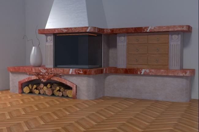 3D модель и визуализацию торгового места 41 - kwork.ru