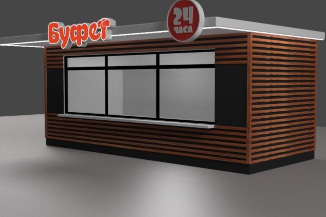 3D модель и визуализацию торгового места 37 - kwork.ru