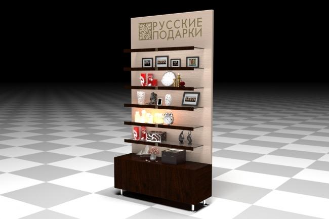 3D модель и визуализацию торгового места 35 - kwork.ru