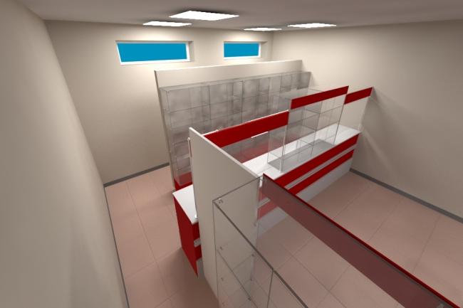 3D модель и визуализацию торгового места 32 - kwork.ru