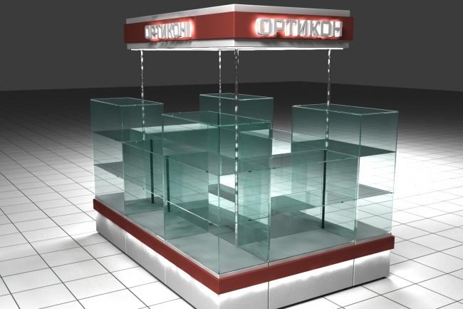 3D модель и визуализацию торгового места 30 - kwork.ru