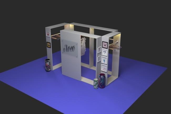 3D модель и визуализацию торгового места 29 - kwork.ru