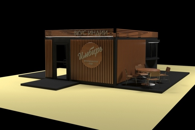3D модель и визуализацию торгового места 25 - kwork.ru