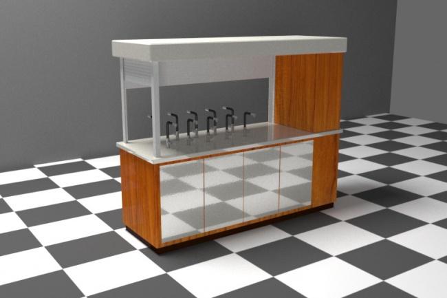 3D модель и визуализацию торгового места 48 - kwork.ru