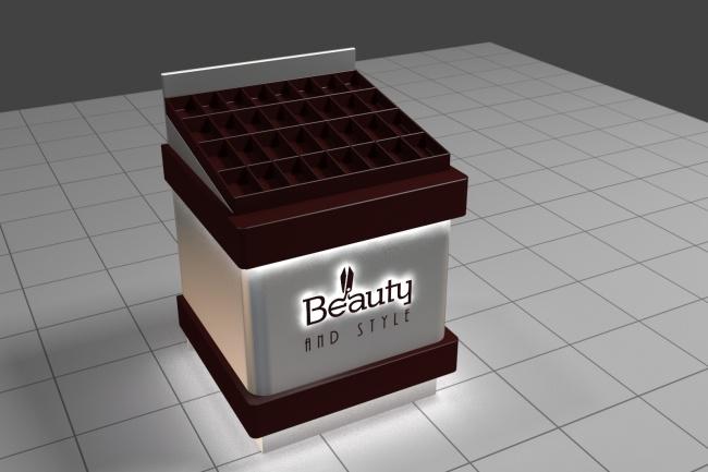 3D модель и визуализацию торгового места 21 - kwork.ru