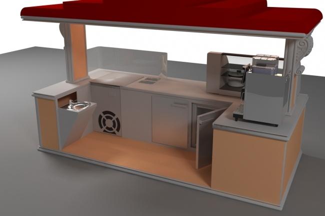 3D модель и визуализацию торгового места 17 - kwork.ru