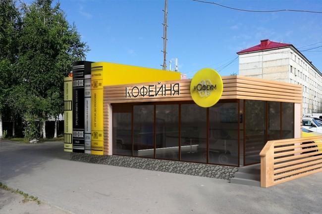 3D модель и визуализацию торгового места 13 - kwork.ru