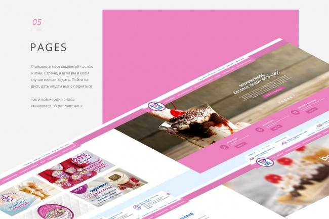 Создам дизайн страницы сайта 43 - kwork.ru
