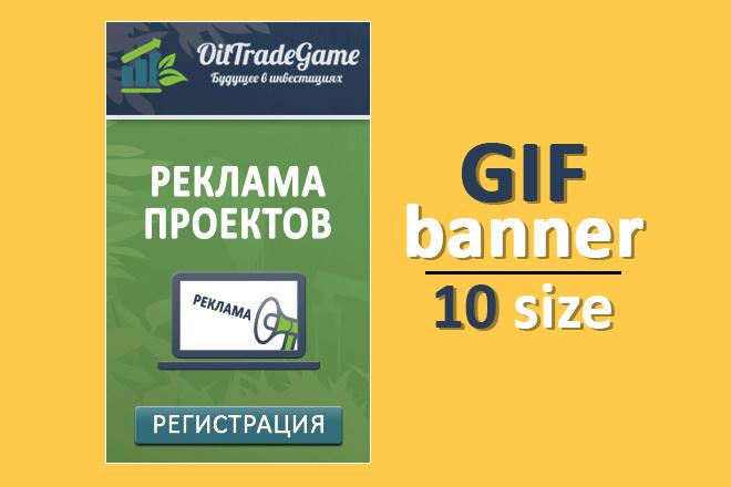 Сделаю 2 качественных gif баннера 19 - kwork.ru