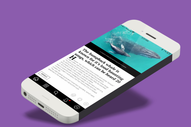 Дизайн экрана мобильного приложения 1 - kwork.ru