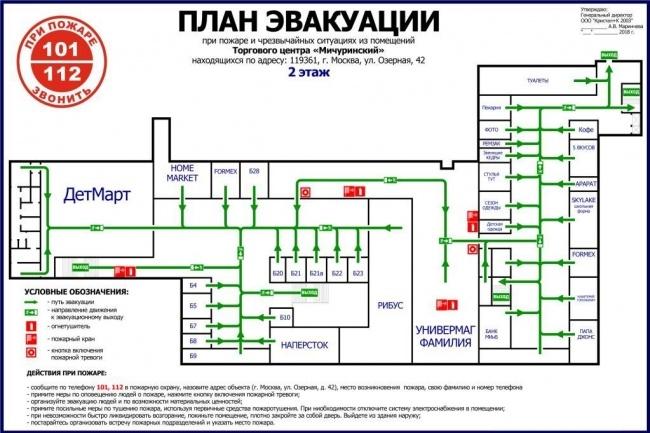 Нарисую эскиз плана эвакуации по ГОСТу 13 - kwork.ru