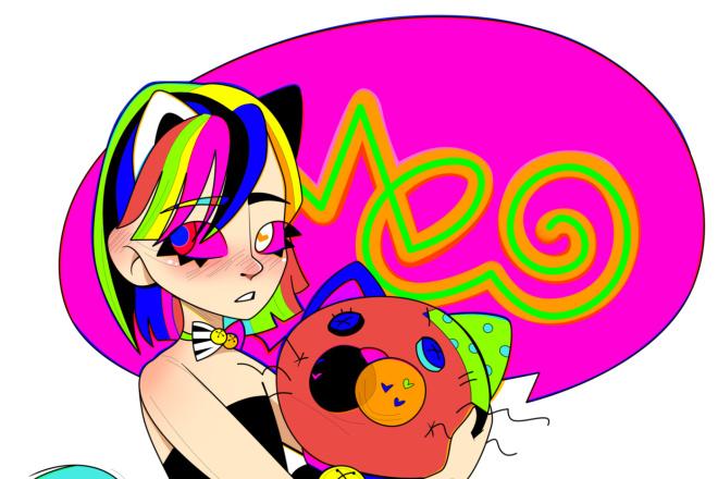 Нарисую персонажа в авторском стиле, иллюстрацию 5 - kwork.ru