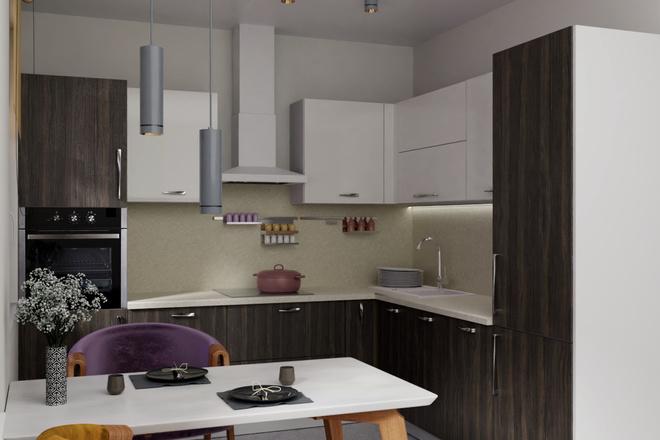Дизайн-проект кухни. 3 варианта 21 - kwork.ru