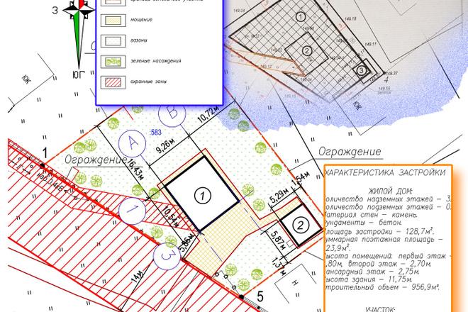 Схема планировочной организации земельного участка - спозу 6 - kwork.ru