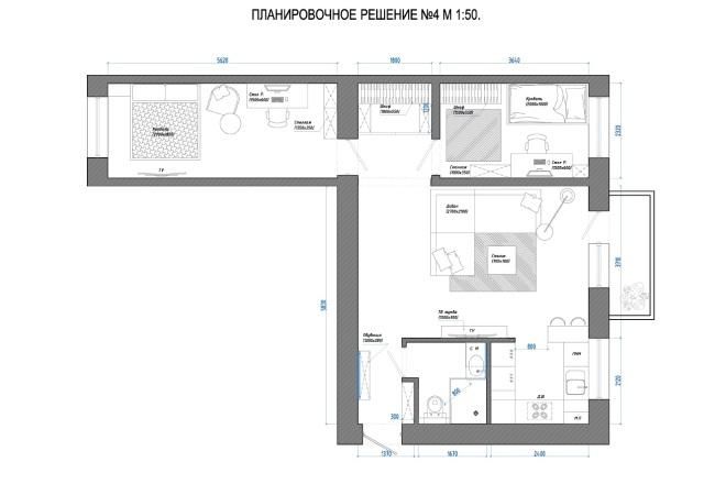 Планировочное решение вашего дома, квартиры, или офиса 45 - kwork.ru