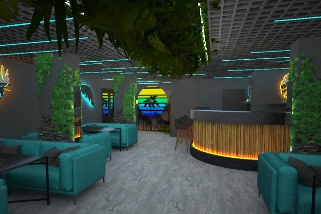 Визуализация торгового помещения, островка 45 - kwork.ru