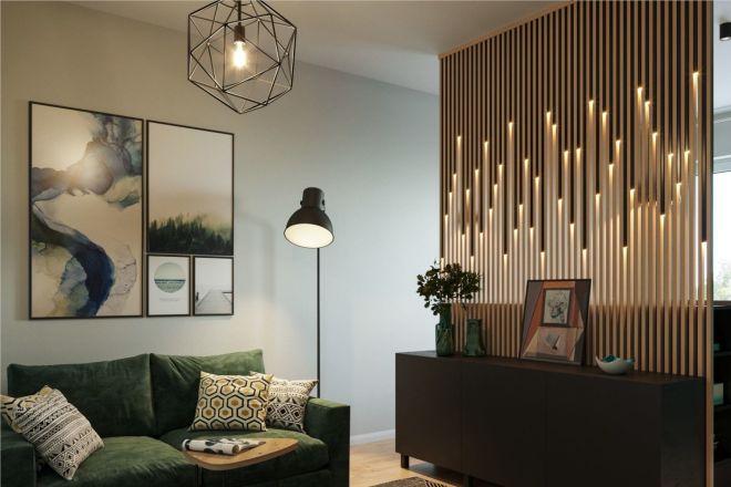 500 идей использования деревянных реек, баффели в интерьере 1 - kwork.ru