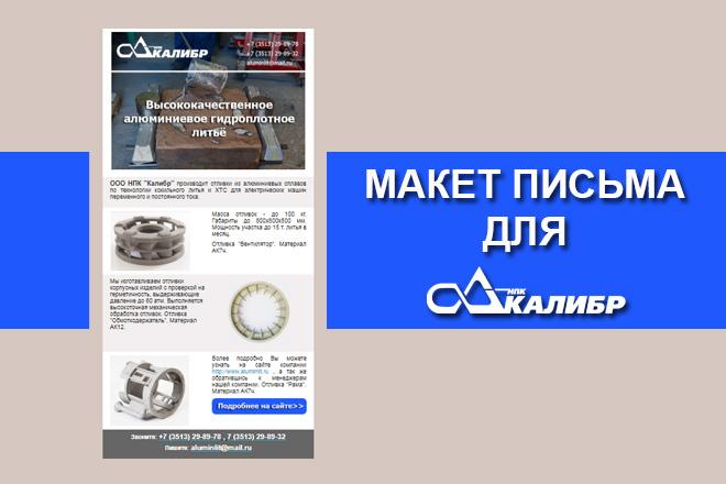 Создам html письмо для e-mail рассылки -адаптация + дизайн 25 - kwork.ru