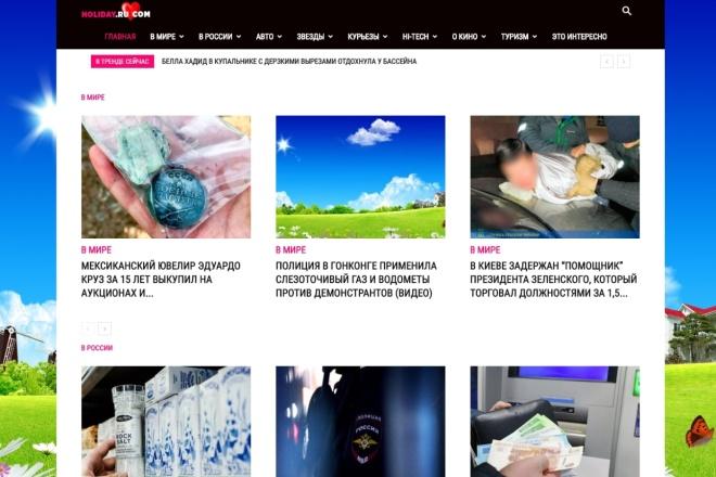 Создам автонаполняемый сайт на WordPress, Pro-шаблон в подарок 14 - kwork.ru