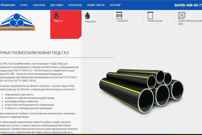Скопирую почти любой сайт, landing page под ключ с админ панелью 21 - kwork.ru