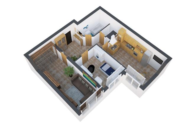 Сделаю 3д визуализацию плана для дома, квартиры 4 - kwork.ru