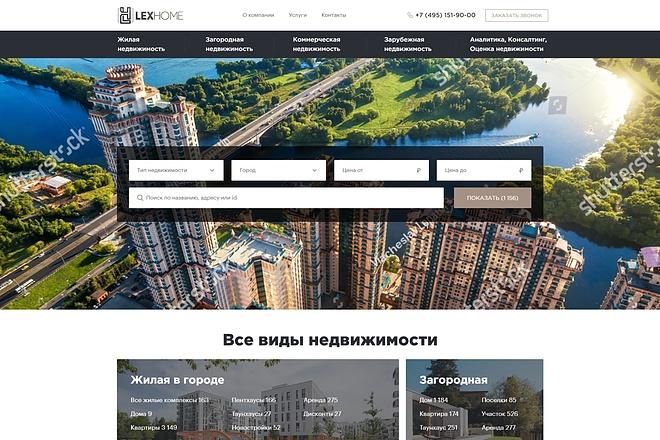 Адаптивная верстка сайта по дизайн макету 22 - kwork.ru