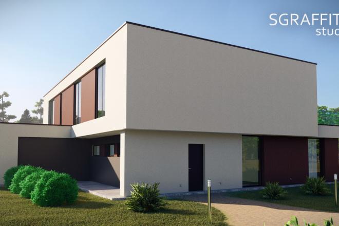 3д моделирование и визуализация экстерьеров домов 18 - kwork.ru