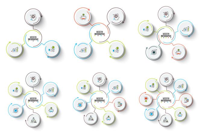 Набор инфографики. 13 тематик, 800 шаблонов, 2 пакета иконок 25 - kwork.ru