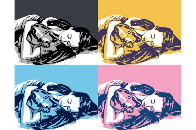 Качественный поп-арт портрет по вашей фотографии 23 - kwork.ru