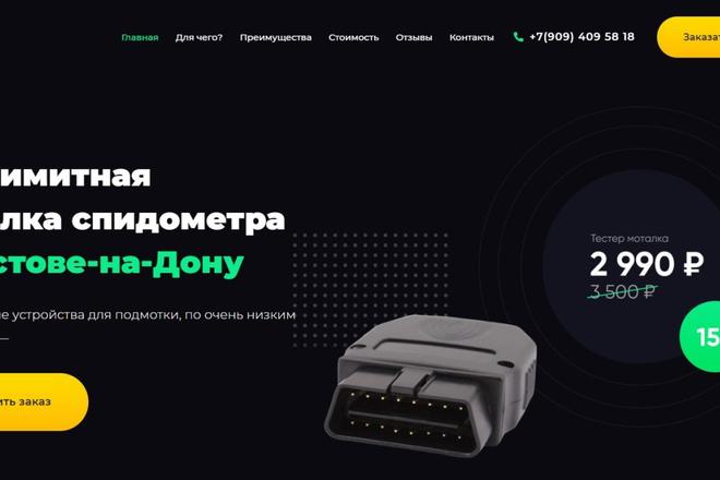 Сделаю классный Лендинг на Elementor Pro 15 - kwork.ru
