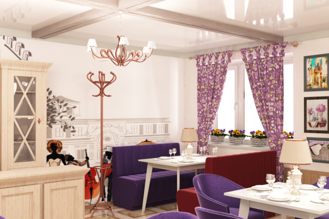 Интерьеры ресторанов, кафе 3 - kwork.ru