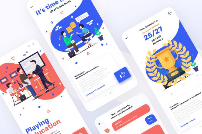 Дизайн Вашего приложения. iOS и Android 28 - kwork.ru
