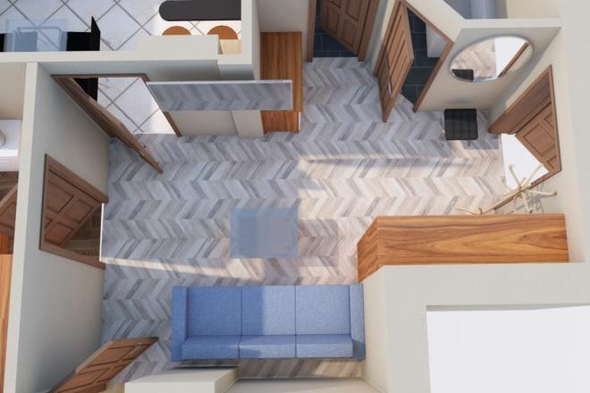 Создам планировку дома, квартиры с мебелью 8 - kwork.ru