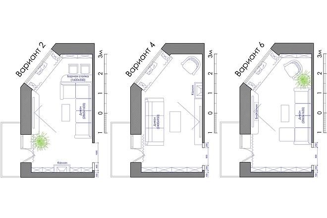 Планировка квартиры или жилого дома, перепланировка и визуализация 37 - kwork.ru