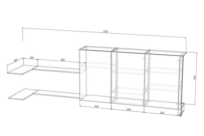 Проект корпусной мебели, кухни. Визуализация мебели 32 - kwork.ru