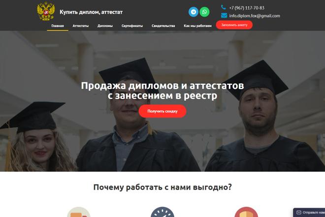 Копия сайта, landing page + админка и настройка форм на почту 23 - kwork.ru