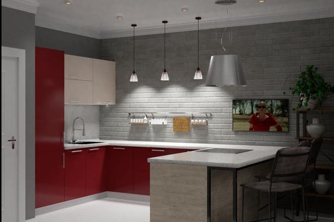 Дизайн-проект кухни. 3 варианта 23 - kwork.ru