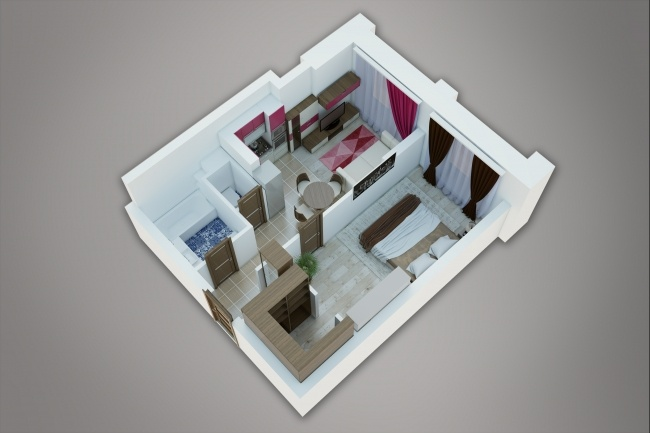 Сделаю 3д визуализацию плана для дома, квартиры 10 - kwork.ru