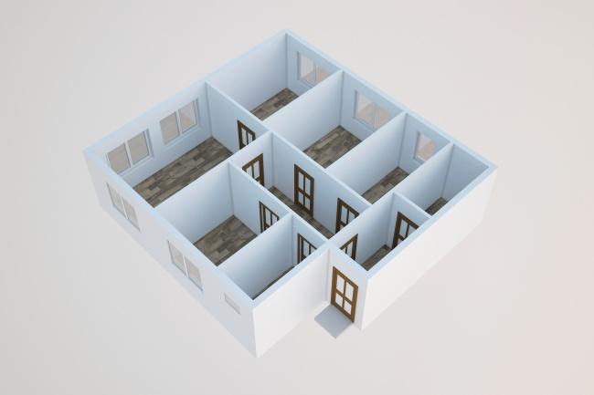 Сделаю 3д визуализацию плана для дома, квартиры 22 - kwork.ru