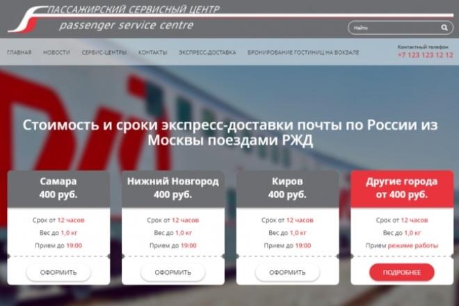 Верстка, Адаптация HTML, CSS, JS из PSD 18 - kwork.ru