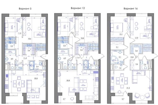 Планировка квартиры или жилого дома, перепланировка и визуализация 67 - kwork.ru